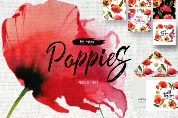 Print on Demand: Poppy Flowers Graphic Illustrations By MyStocks