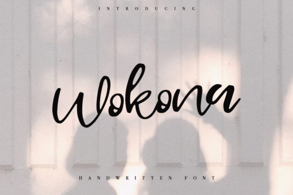 Print on Demand: Wokona Script & Handwritten Font By Katie Holland
