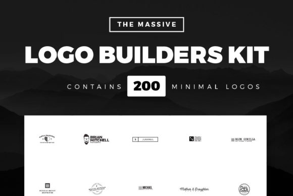 Massive Logo Builder Kit 200 Logos Graphic Logos By wornoutmedia