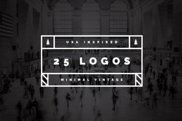 25 US Inspired Minimal Vintage Logos Graphic Logos By wornoutmedia