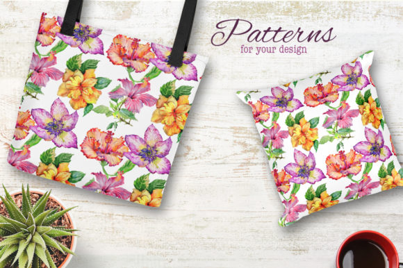 Print on Demand: Hibiscus Watercolor Flower Set Graphic Illustrations By MyStocks - Image 2