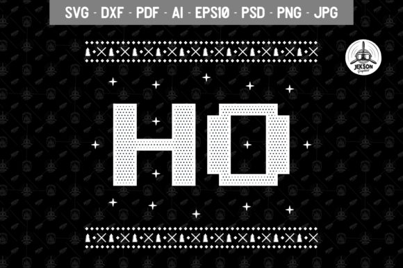 Download Free Funny Christmas Ho Ho Graphic By Jeksongraphics Creative Fabrica for Cricut Explore, Silhouette and other cutting machines.