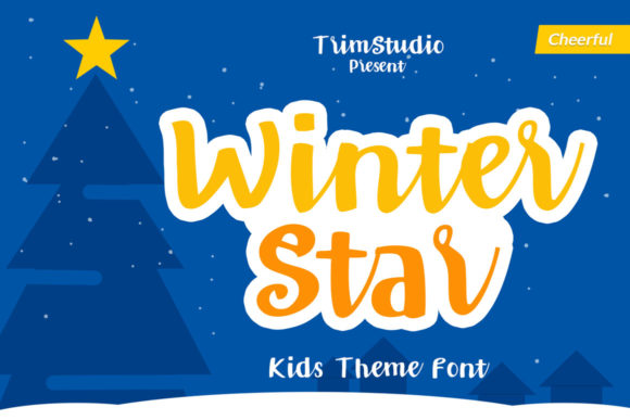 Print on Demand: Winter Star Script & Handwritten Font By Trim Studio - Image 1