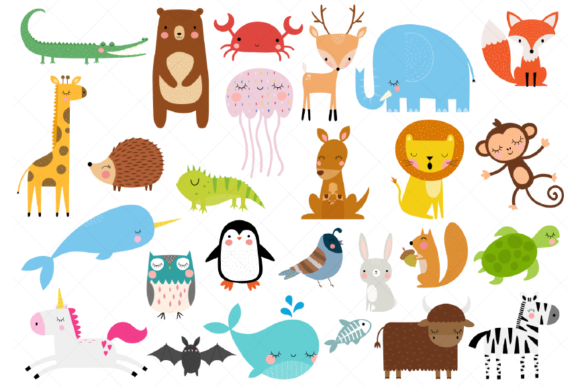 Animals of the Alphabet Clipart a to Z Graphic Illustrations By ClipArtisan