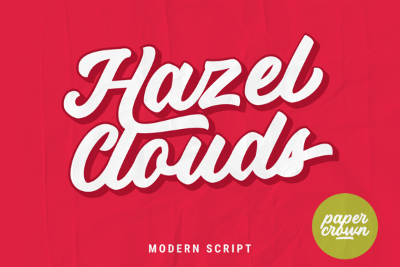 Print on Demand: Hazel Clouds Script & Handwritten Font By Rillatype