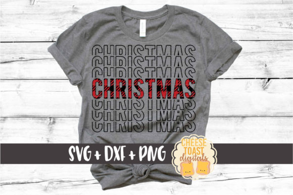 Buffalo Plaid Christmas Mirror Word Graphic By CheeseToastDigitals