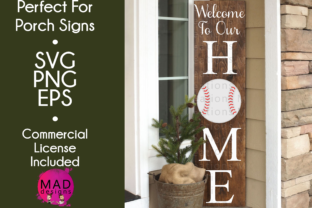 Download Free Welcome To Our Home Baseball Graphic By Maddesigns718 for Cricut Explore, Silhouette and other cutting machines.