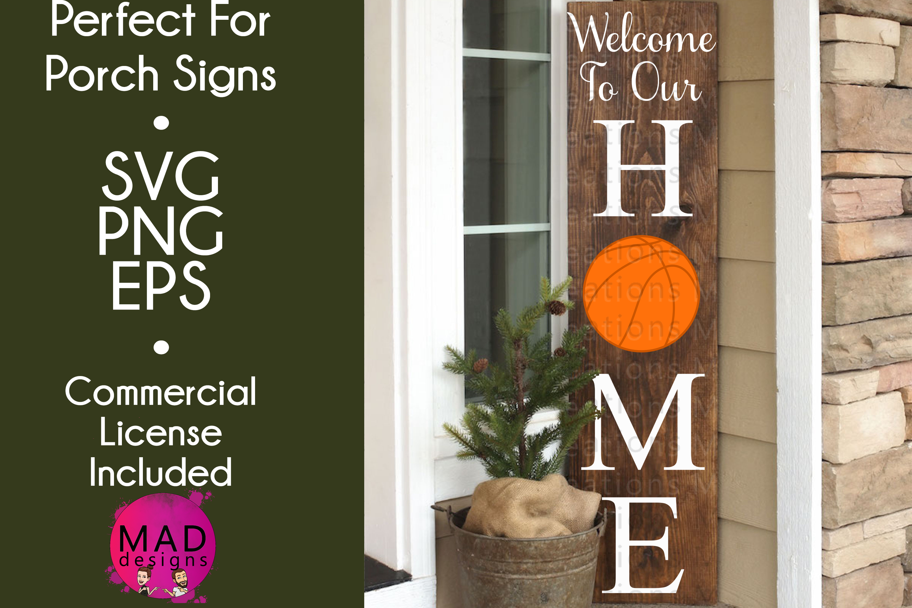 Download Free Welcome To Our Home Basketball Graphic By Maddesigns718 for Cricut Explore, Silhouette and other cutting machines.