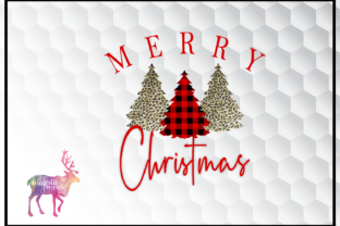 Print on Demand: Merry Christmas Trees Graphic Illustrations By majesticmooseprints
