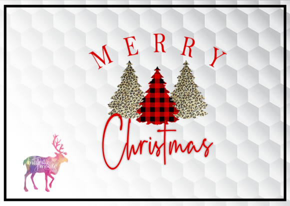 Merry Christmas Trees Graphic By majesticmooseprints
