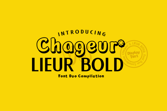 Print on Demand: Chageur & Lieur Bold Duo Display Font By inkstypia