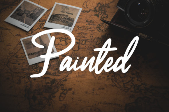 Print on Demand: Painted Script & Handwritten Font By aldedesign