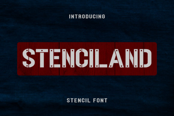 Print on Demand: Stenciland Display Font By aldedesign