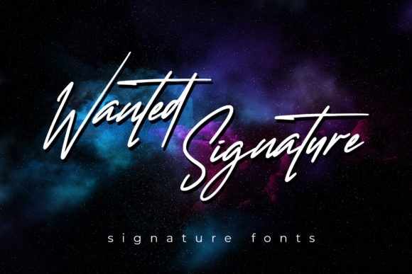 Print on Demand: Wanted Signature Script & Handwritten Font By aldedesign