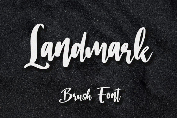 Print on Demand: Landmark Script & Handwritten Font By aldedesign