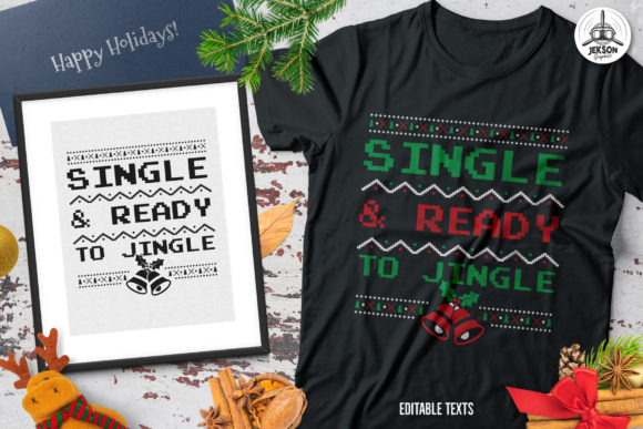 Download Free Merry Christmas And New Year T Shirt Graphic By Jeksongraphics for Cricut Explore, Silhouette and other cutting machines.