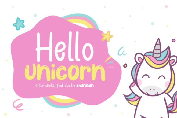 Hello Unicorn Display Font By Khurasan