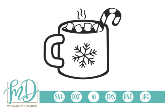 Hot Cocoa Mug Graphic Crafts By Morgan Day Designs