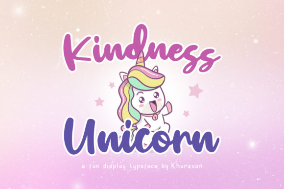 Print on Demand: Kindness Unicorn Script & Handwritten Font By Khurasan - Image 1