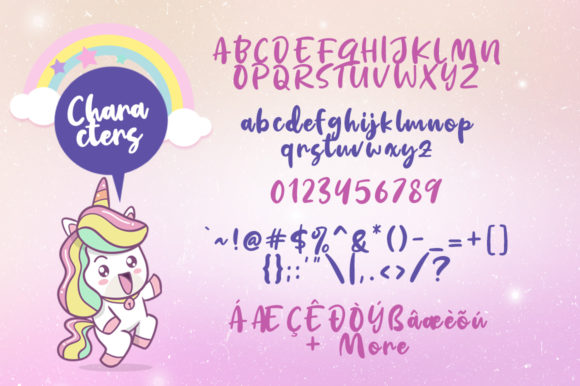 Print on Demand: Kindness Unicorn Script & Handwritten Font By Khurasan - Image 5