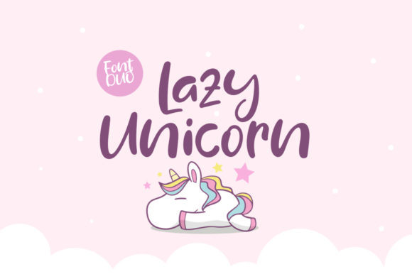 Print on Demand: Lazy Unicorn Script & Handwritten Font By Khurasan