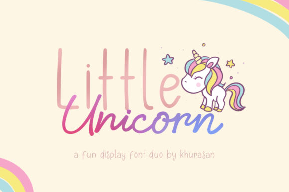 Little Unicorn Manuscrita Fuente Por Khurasan
