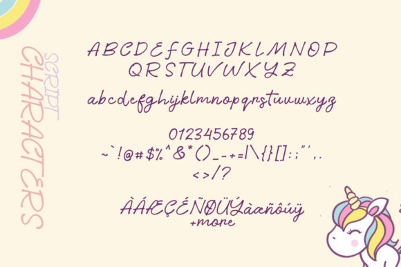 Print on Demand: Little Unicorn Script & Handwritten Font By Khurasan - Image 5