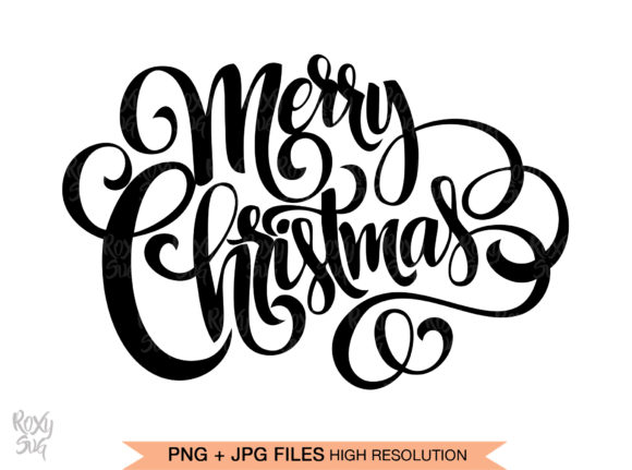 Print on Demand: Merry Christmas Graphic Crafts By roxysvg26 - Image 1