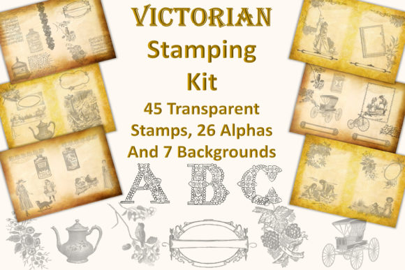 Print on Demand: Victorian Digital Stamping Kit Graphic Crafts By The Paper Princess