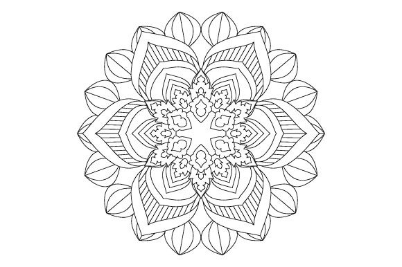 Print on Demand: 30 Mandala Coloring Pages Vector Bundle Graphic Coloring Pages & Books Adults By GraphicsFarm - Image 8