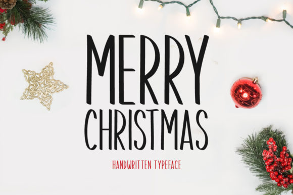 Print on Demand: Merry Christmas Display Font By FontEden