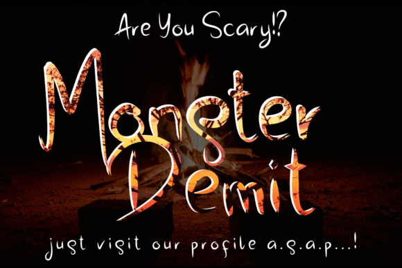 Download Free Monster Demit Font By Aldedesign Creative Fabrica for Cricut Explore, Silhouette and other cutting machines.