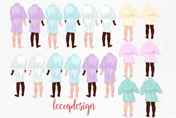 Flower Girls Clipart Junior Bridesmaids Graphic Illustrations By LeCoqDesign - Image 2