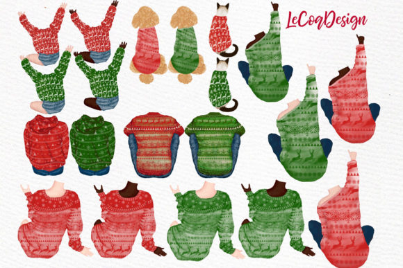 Christmas Family Fireplace Chrismas Graphic Illustrations By LeCoqDesign - Image 2