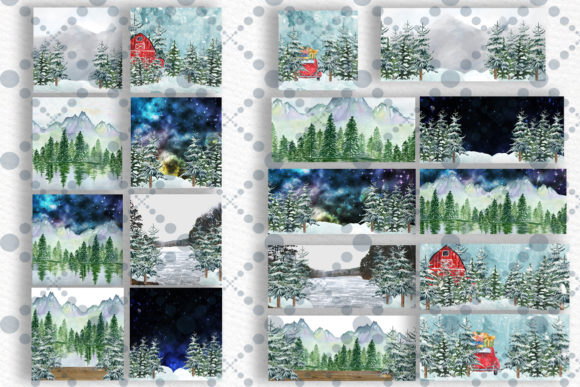 Winter Background Holiday Scenes Graphic Illustrations By LeCoqDesign - Image 2
