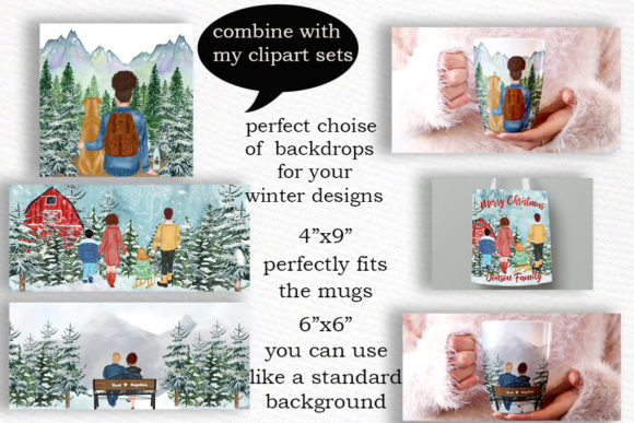 Winter Background Holiday Scenes Graphic Illustrations By LeCoqDesign - Image 3