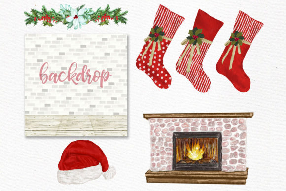Christmas Family Fireplace Chrismas Graphic Illustrations By LeCoqDesign - Image 4