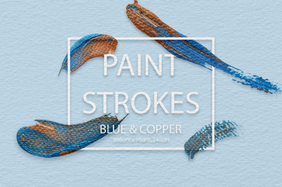 Download Free Blue Copper Strokes Graphic By Faerydesign Creative Fabrica for Cricut Explore, Silhouette and other cutting machines.