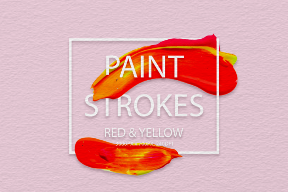 Download Free Red Yellow Strokes Graphic By Faerydesign Creative Fabrica for Cricut Explore, Silhouette and other cutting machines.