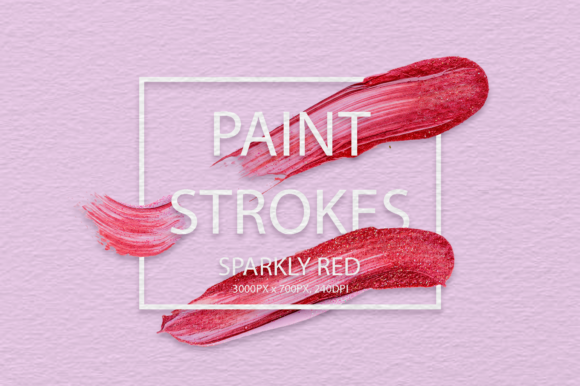 Sparkly Red Strokes Graphic Arts & Entertainment By FaeryDesign