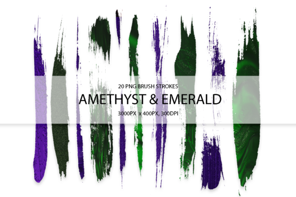 Amethyst & Emerald Strokes Graphic Arts & Entertainment By FaeryDesign