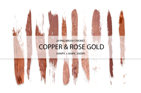 Download Free Cooper Rose Gold Strokes Graphic By Faerydesign Creative Fabrica for Cricut Explore, Silhouette and other cutting machines.