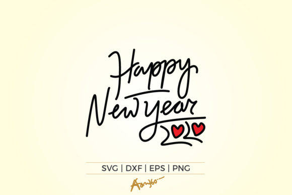 Download Free Happy New Year 2020 Graphic By Aam360 Creative Fabrica for Cricut Explore, Silhouette and other cutting machines.
