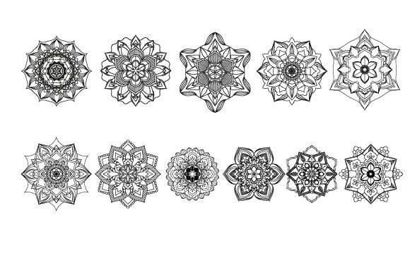 Print on Demand: 30 Mandala Coloring Pages Vector Bundle Graphic Coloring Pages & Books Adults By GraphicsFarm - Image 20