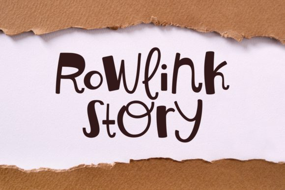 Print on Demand: Rowlink Story Script & Handwritten Font By Keithzo (7NTypes)