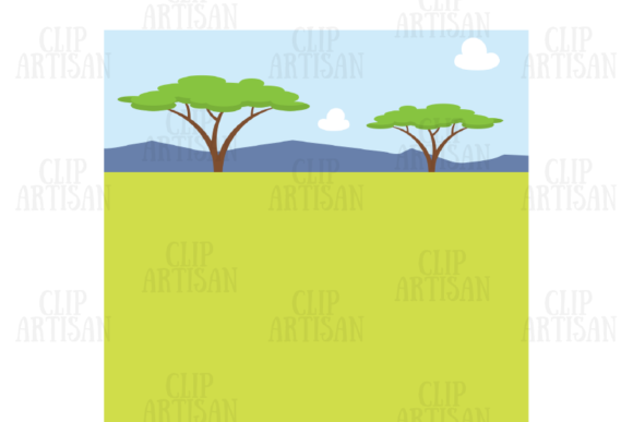 Safari Animals Clipart African Animals Graphic Illustrations By ClipArtisan - Image 2
