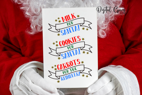 Download Free Cookies Milk For Santa Designs Graphic By Digital Gems for Cricut Explore, Silhouette and other cutting machines.