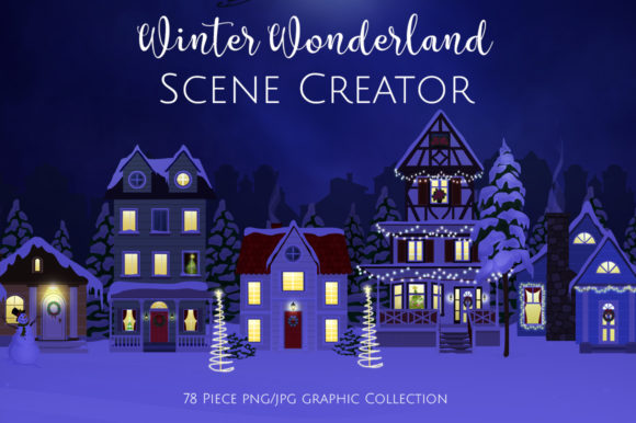 Winter Wonderland Scene Creator Grafik von Dapper Dudell