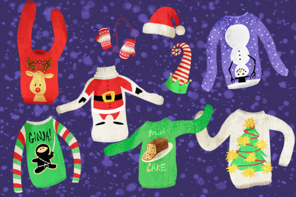 Ugly Christmas Sweaters Graphics Graphic Illustrations By Dapper Dudell - Image 2