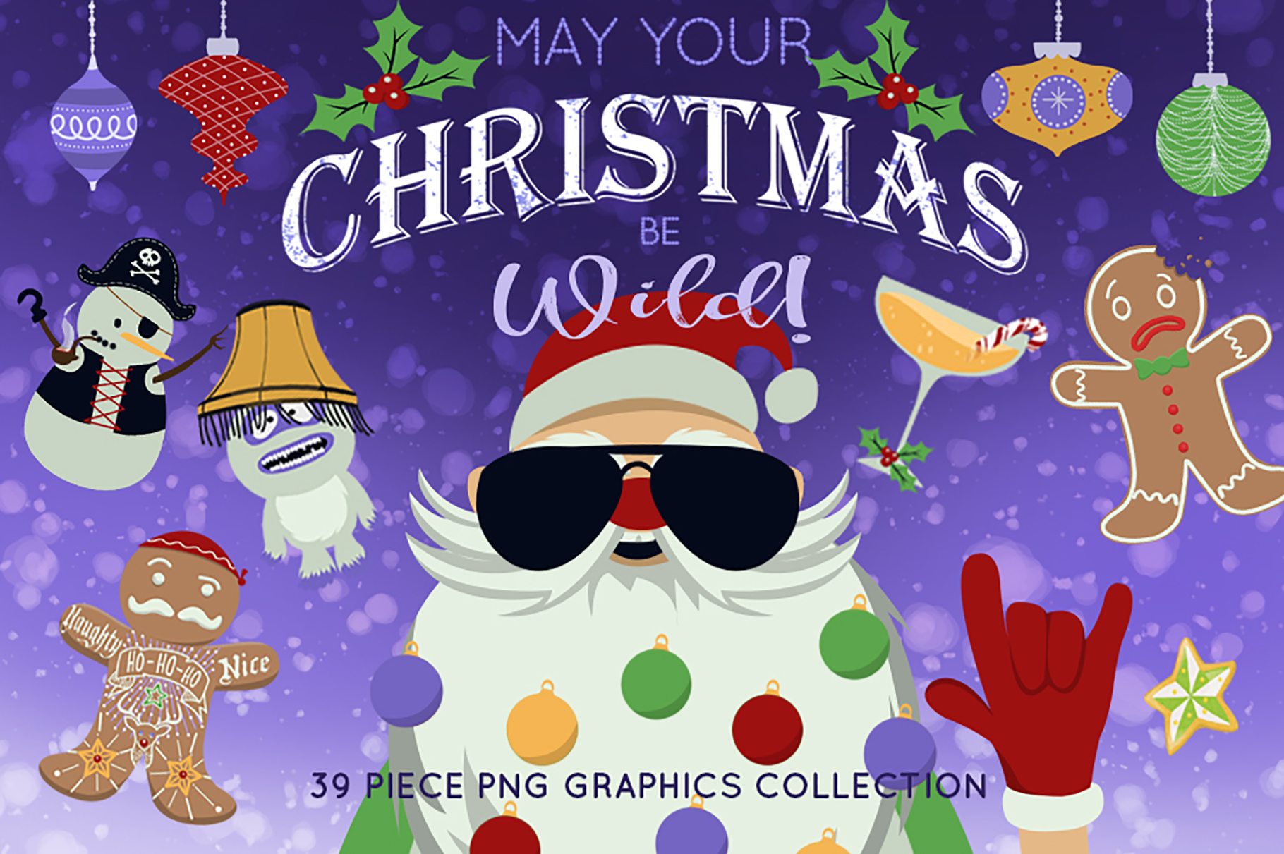 Download Free May Your Christmas Be Wild Graphic By Dapper Dudell Creative for Cricut Explore, Silhouette and other cutting machines.